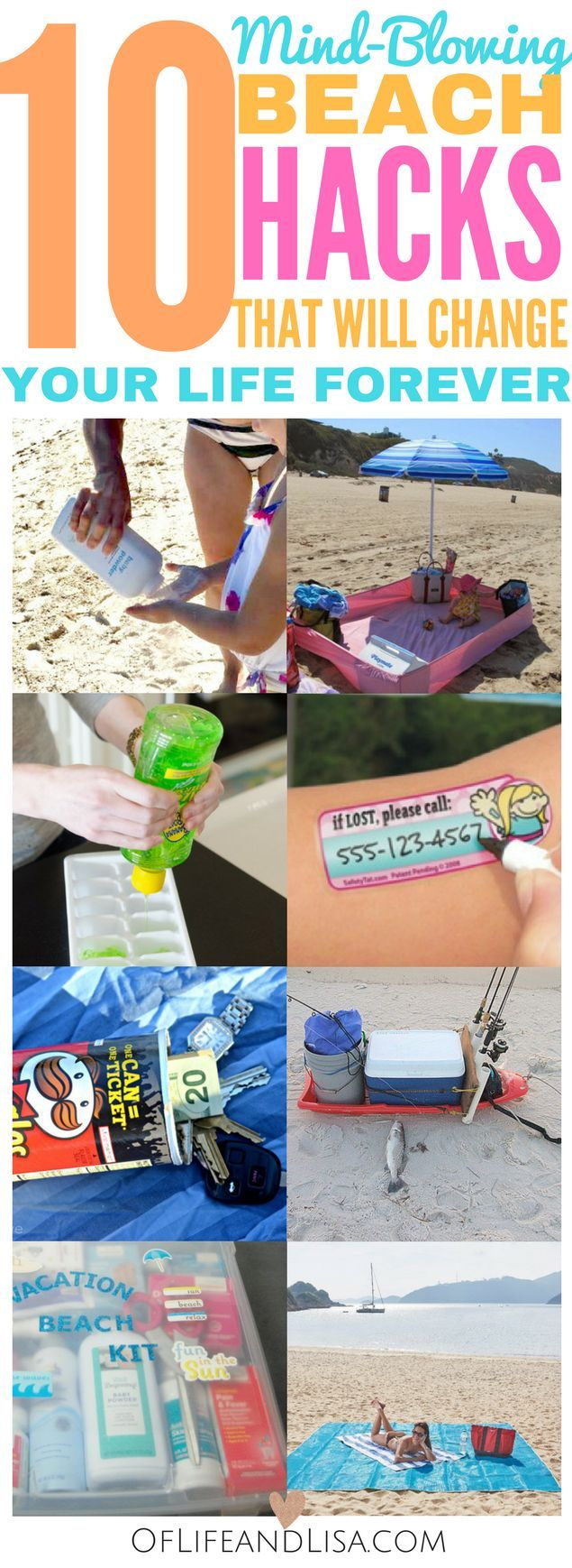 Life Hacks For Moms 25 Best Beach Hacks Ideas On Pinterest Beach Tips Beach Trip