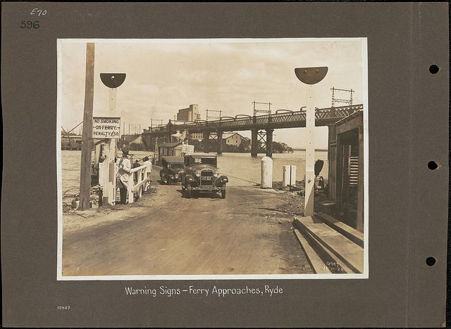 Warning Signs - Ferry Approaches, Ryde