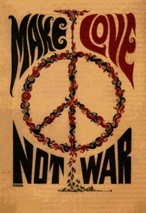 Nice people dating make love not war! #Sixties #Peace and #love