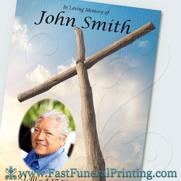 Sunrise Cross Theme - Large Board Posters - www.fastfuneralprinting ...