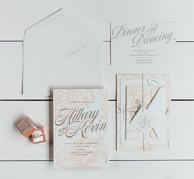 The Hillary Suite - Inclosed Letterpress Co. | Custom Stationery | Romantic Wedding Inspiration