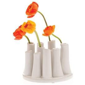 vase: White Vase, Bud Vase, Round Vase, Pooley Round, Gifts Ideas, Hair Stand, Orange Flowers, Round White, Flowers Vase
