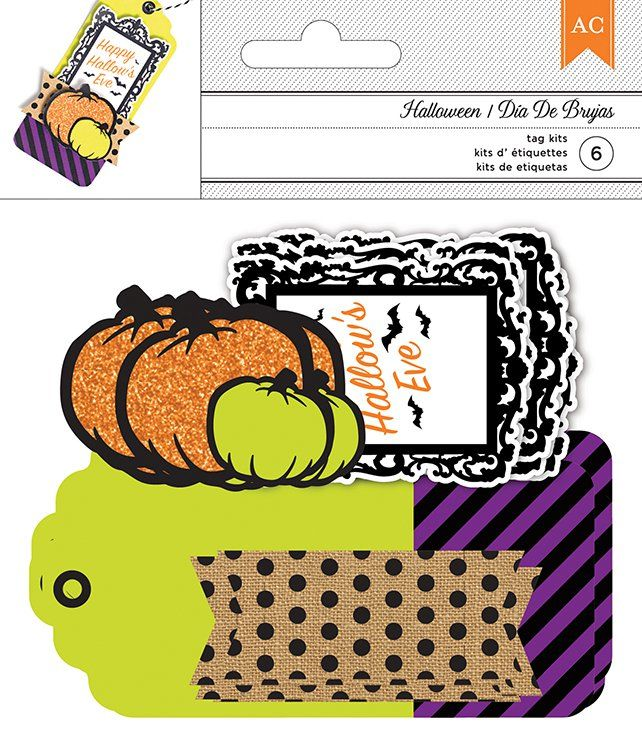 American Crafts - Halloween - Kits - Tags - Happy Hallow's Eve