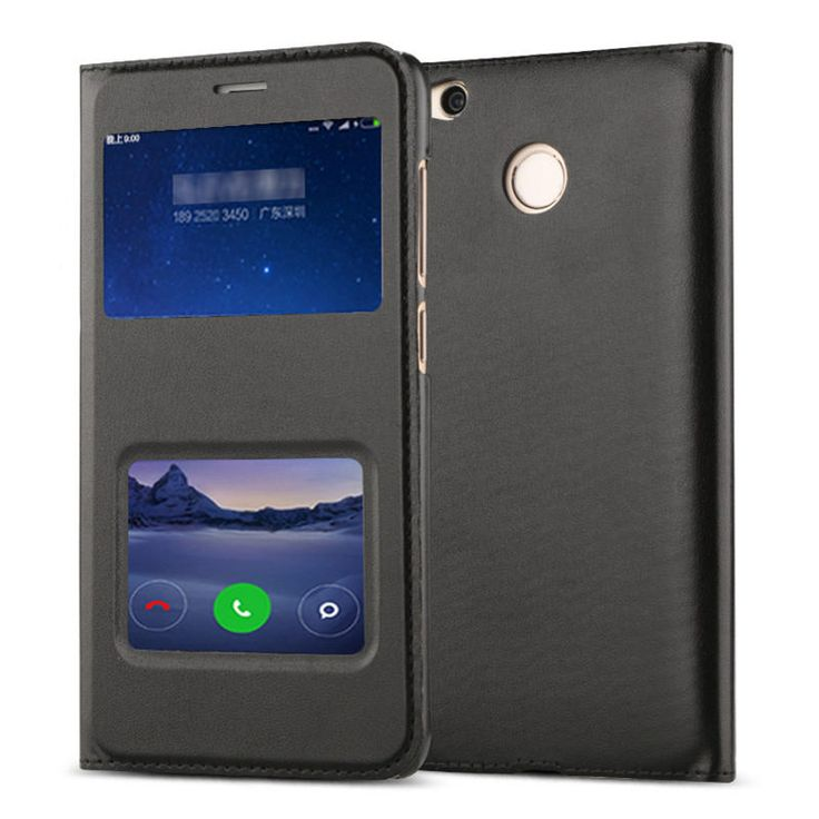 Dual Window Flip Stand PU&PC Leather Cover Case For Xiaomi Redmi 4X/ Redmi 4X Global Edition Sale - Banggood.com