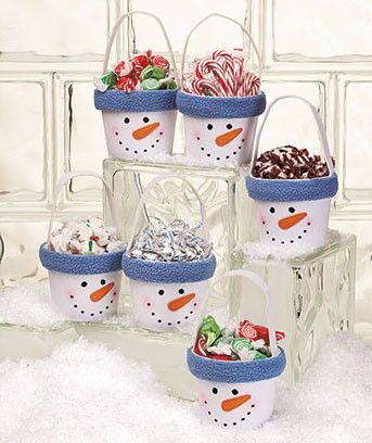 Sets of 6 Holiday Treat Buckets and lots of other cute quick holiday ideas