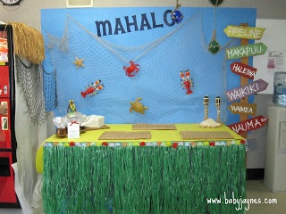 Hawaiian Theme Teacher Appreciation Ideas