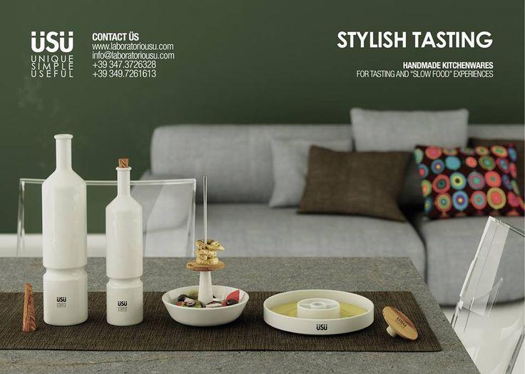 Coulisse, Capo, Fioretto, Tintingo #ceramic # design #olivewood #wooden #kitchenware #double #handmade #italiandesign | www.laboratorious...