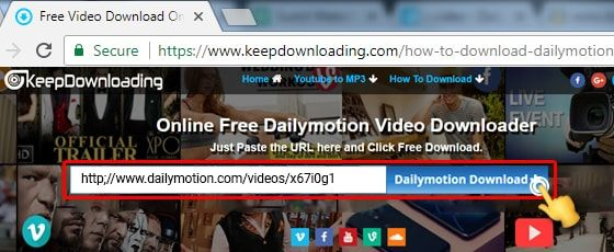 Download dailymotion videos online