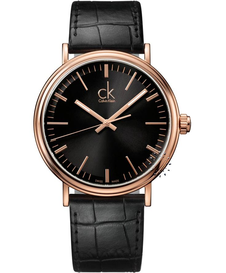 CALVIN KLEIN Surround Black Leather Strap Τιμή: 287€ http://www.oroloi.gr/product_info.php?products_id=30871