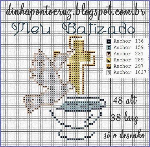 Boa sexta feira a todas!  Hoje trouxe gráficos para batizados espero que gostem:             trouxe tambem os anjinhos da Carina Cassol que...