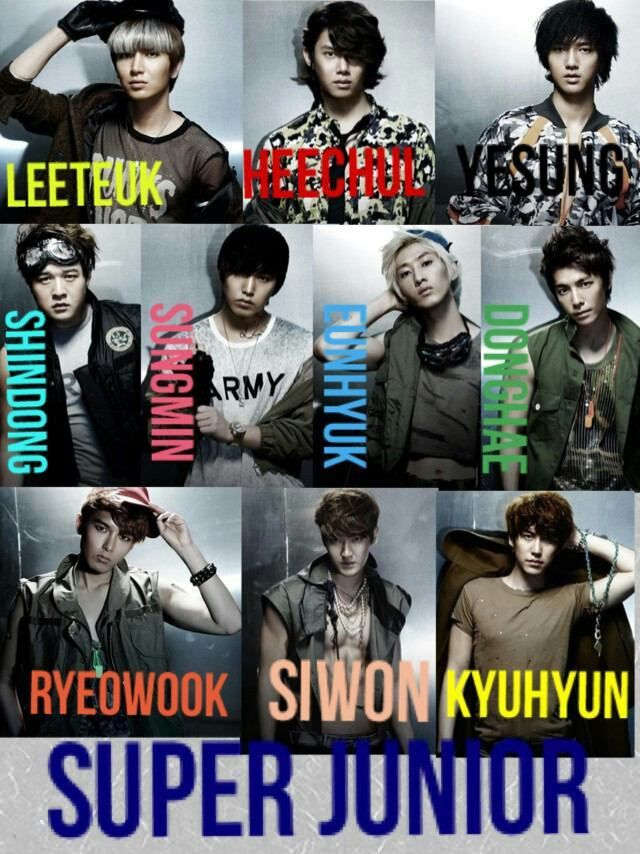 Super Junior ((: me likes!! Come visit kpopcity.net for the largest discount fashion store in the world!!