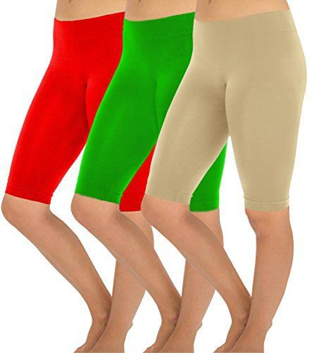 New Trending Pants: Simlu Womens Seamless Workout Pants Running Tights Bermuda Leggings Capri Pants 3 Pk Red Kelly Green Khaki One Size. Simlu Womens Seamless Workout Pants Running Tights Bermuda Leggings Capri Pants 3 Pk Red Kelly Green Khaki One Size   Special Offer: $17.99      155 Reviews Join the Simlu Fashion Club These Short Leggings for Women symbolize style and fashionable chic. The fitted, hugging look has a...