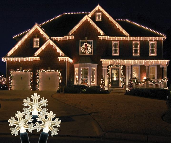 22 best images about led icicle lights warm white on - Snowflake exterior christmas lights ...