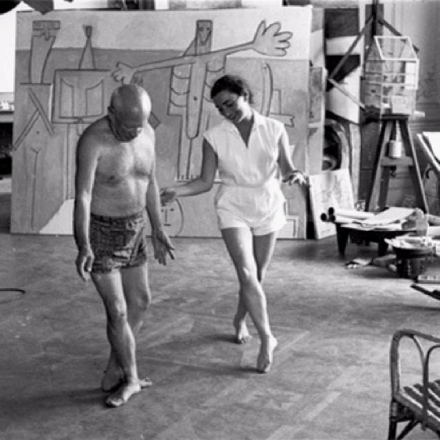 Pablo Picasso: Crutches, Picasso Learning, Jacqueline, Art, Picasso Dance, David Douglas, Pablo Picasso, Learning Ballet, Douglas Duncan