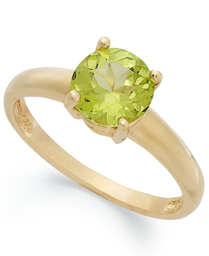 Victoria Townsend 18k Gold over Sterling Silver Ring, Peridot August Birthstone Ring (1-1/4 ct. t.w.)