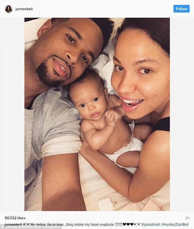 Jurnee Smollett-Bell shares first photo of 5-month-old son Hunter #dailymail
