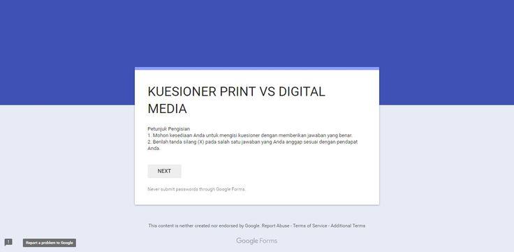 Konvergensi merupakan peluang dan tantangan, terlebih bagi media cetak. Bagaimana cara koran menghadapinya? Kuesioner Print vs Digital Media goo.gl/cso9sy