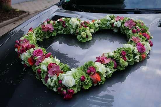Rosa Orchideen  - grüne Hortensien- Rosa Rosen  -