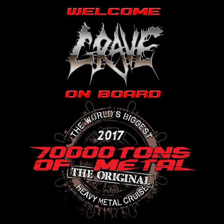 Behold your GRAVE in the middle of the Caribbean Sea on board 70000TONS OF METAL, The Original, The World's Biggest Heavy Metal Cruise! #70000tons #metalcruise