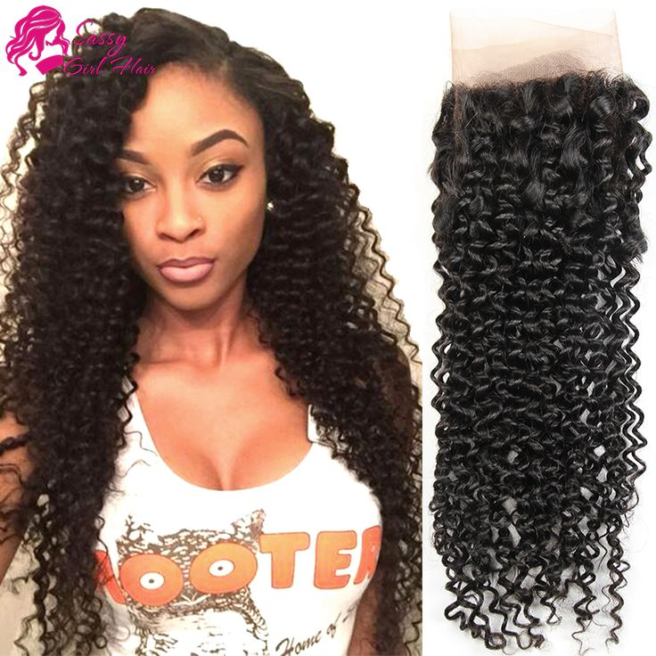 Peruvian Deep Curly Virgin Hair Lace Frontal Closure 13x4