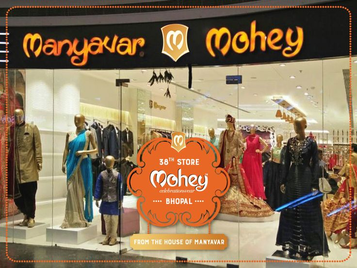 Namaskar #Bhopal, Mohey is delighted to open its 38th store at DB City. #Celebration Wear - Lehangas, Gowns, Suits, & Sarees of the moment.