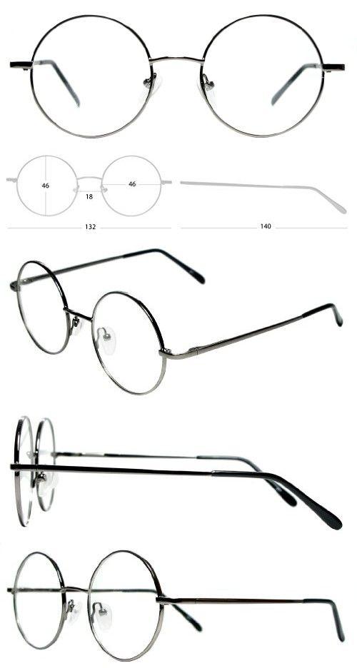 e2b1f28ac2 Full Rim Metal Round Eyeglasses Frame (Medium Size) - Gunmetal Grey Round  Eyeglasses