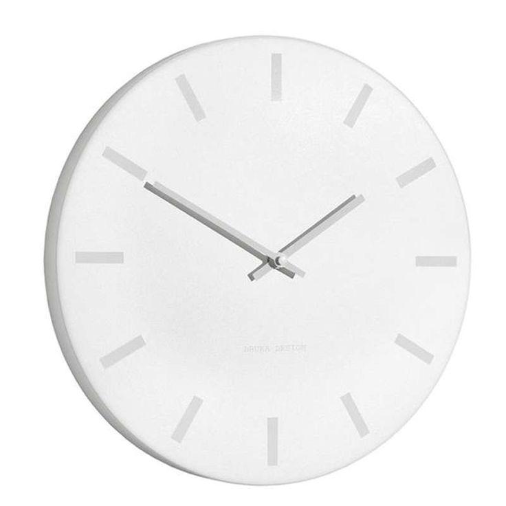 bruka design klokke Ø35 hvit