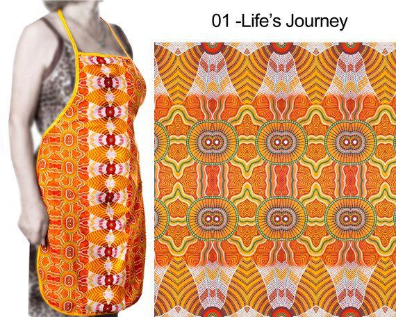 Australian Aboriginal Art Apron by AboriginalOzArt on Etsy