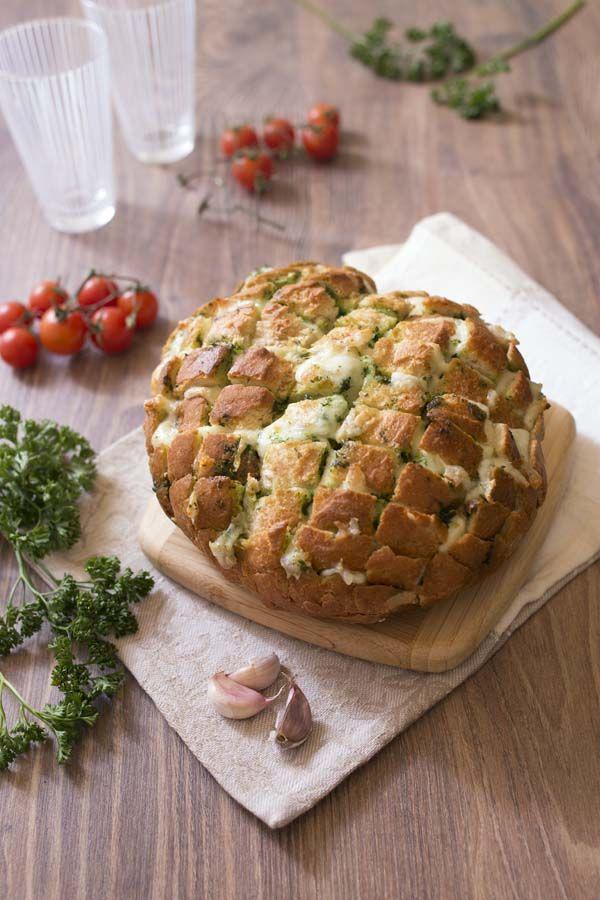 Photo de la recette: Pain au beurre d'ail et persil et mozzarella