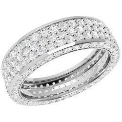 A luxurious diamond set ladies wedding ring in platinum