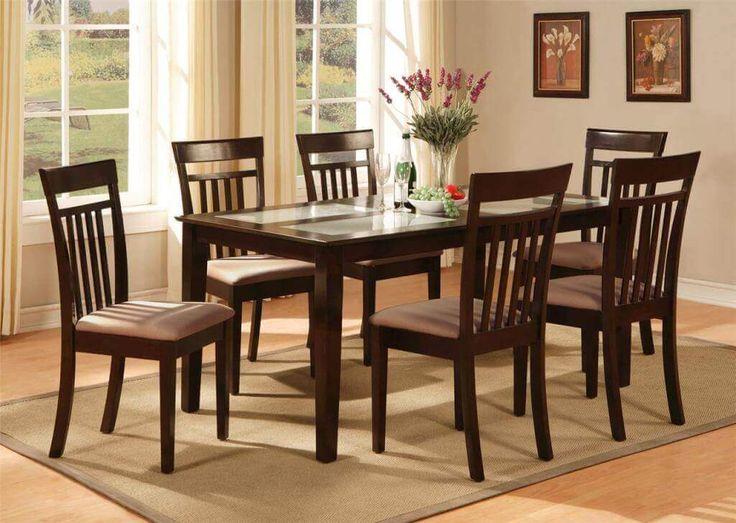 Set Meja Makan Lengkung Minimalis C-6RV terbuat dari kayu jati memiliki formasi 6 kursi dan 1 meja terdapat busa dg balutan kain jok oscar yang nyaman.