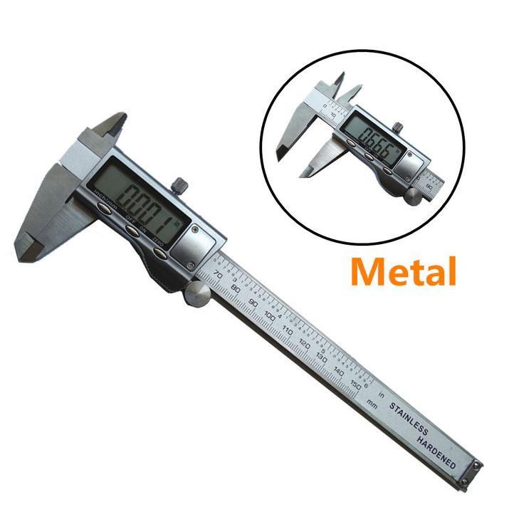 """Digitale Schuifmaat 0-150mm/6 """"Rvs Metalen Behuizing Digitale SCHUIFMAAT Schuifmaat GAUGE MICROMETER Elektronische remklauw ZK01"""