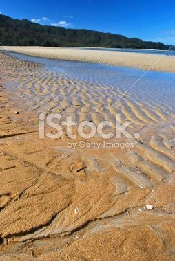 Marahau Beach, The Abel Tasman National Park, NZ Royalty Free Stock Photo