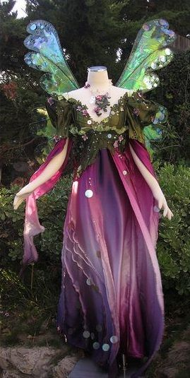 The perfect fairy gown to wear while visiting a fairy garden.