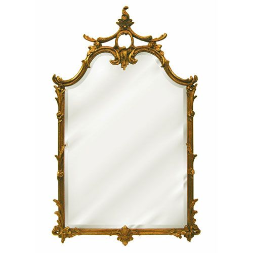 Bassett Mirror Company Wood Frame Antique Gold And Black