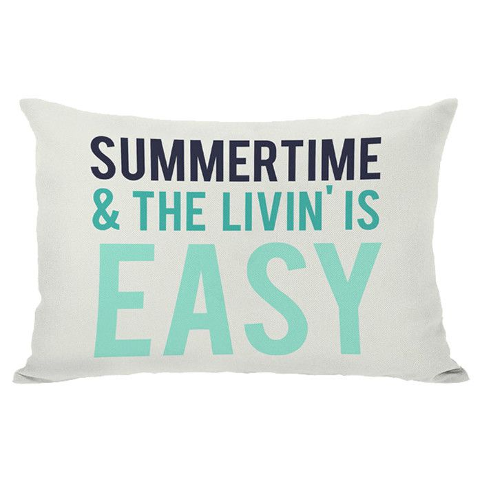 Summertime Indoor/Outdoor Pillow