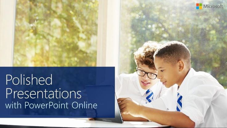 from Microsoft in Education Polished Presentations with PowerPoint Online #edtech