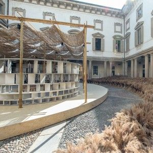 Kéré+Architecture+creates+African-influenced+Courtyard+Village+at+Baroque+palazzo+in+Milan