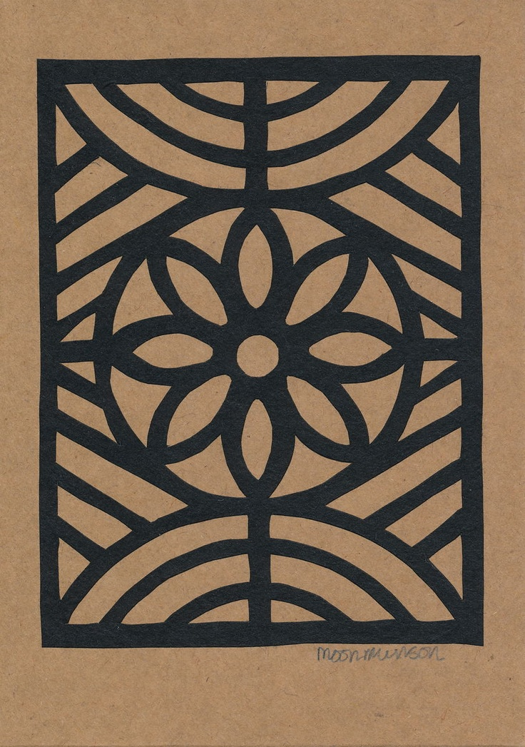 Hand Paper Cut Flower Window Frame Greetings Card - papertree