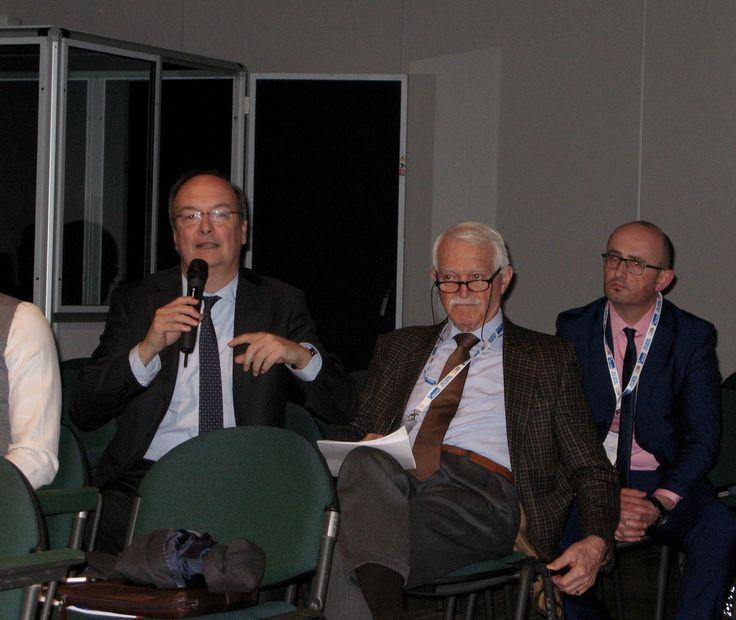 Marco Diotalevi (vice presidente AILM), Emilio Di Cristofaro (AILM Milano) e Claudio Zanelli (Marini Bomag Fayat e AILM Emilia Romagna)