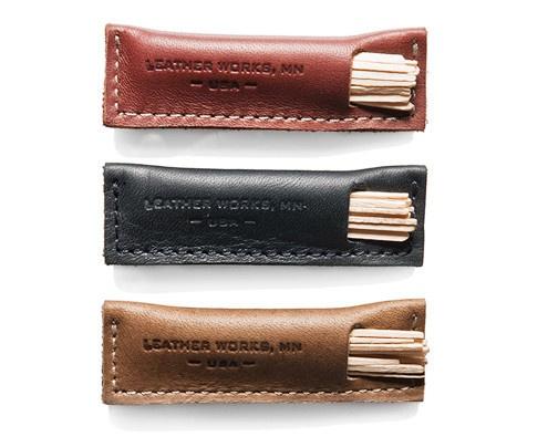 Leather Toothpick Holder   Kaufmann Mercantile