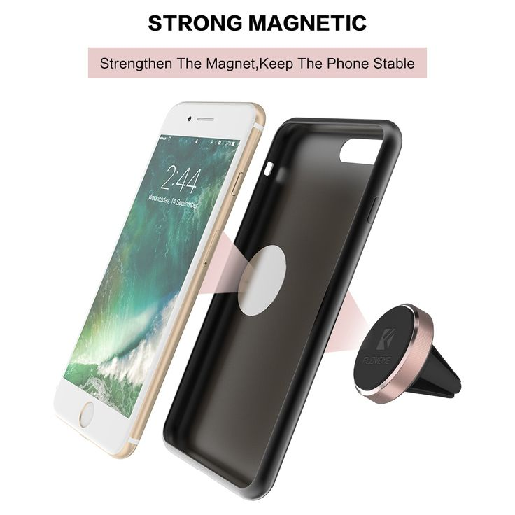 Mobil gps phone holder untuk iphone 7 6 floveme 6 s ditambah 5 5 s se untuk samsung xiaomi aksesoris magnetic air vent outlet gunung berdiri