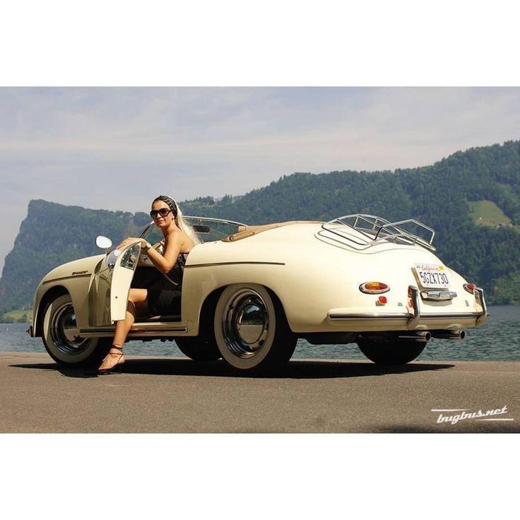 Porsche 356 & Girl ___ #porsche #porsche356 #classicporsche #porscheclassic #fla…
