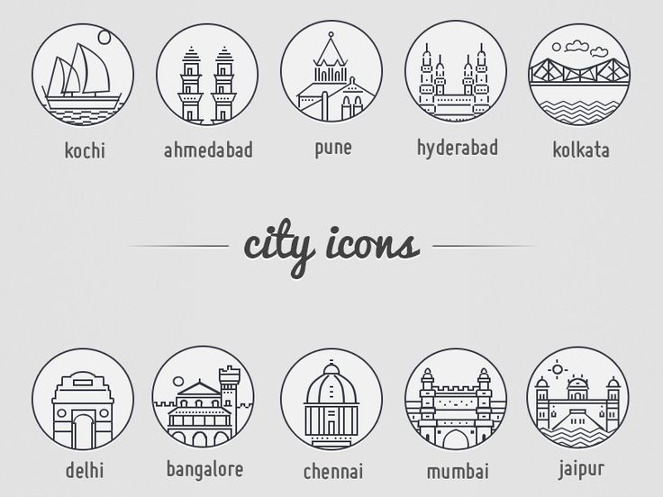 City Icons by Vercingetorix