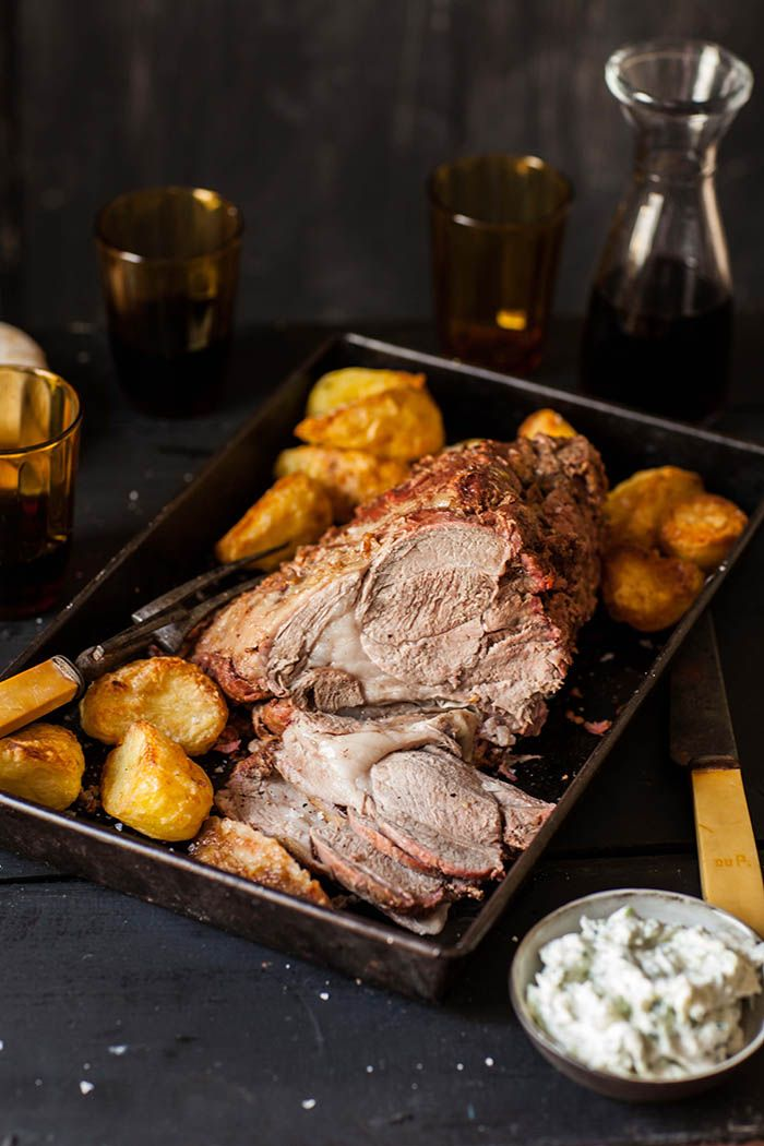 #AddWarmth to your Sunday family lunch with this leg of lamb slowly roasted with a spicy yoghurt marinade.