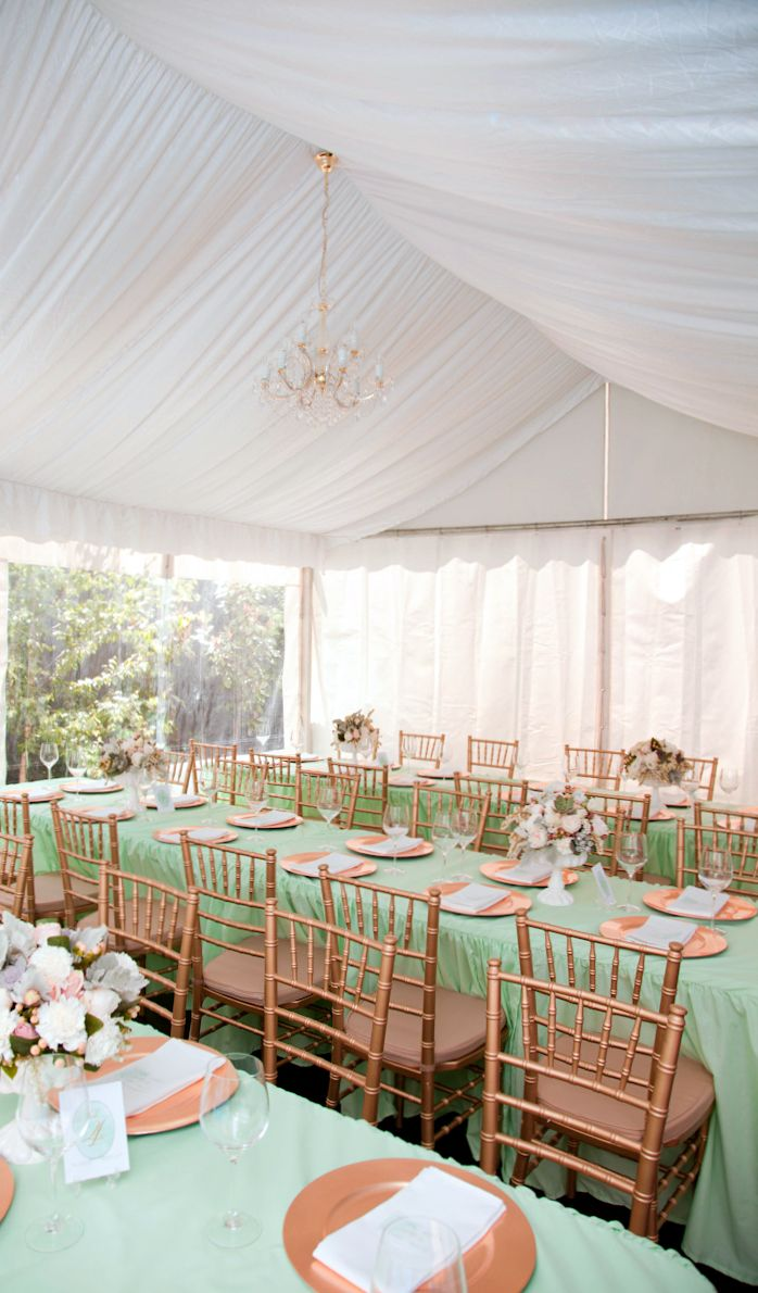 60 Best Images About Peach Mint Gold Table Decor On