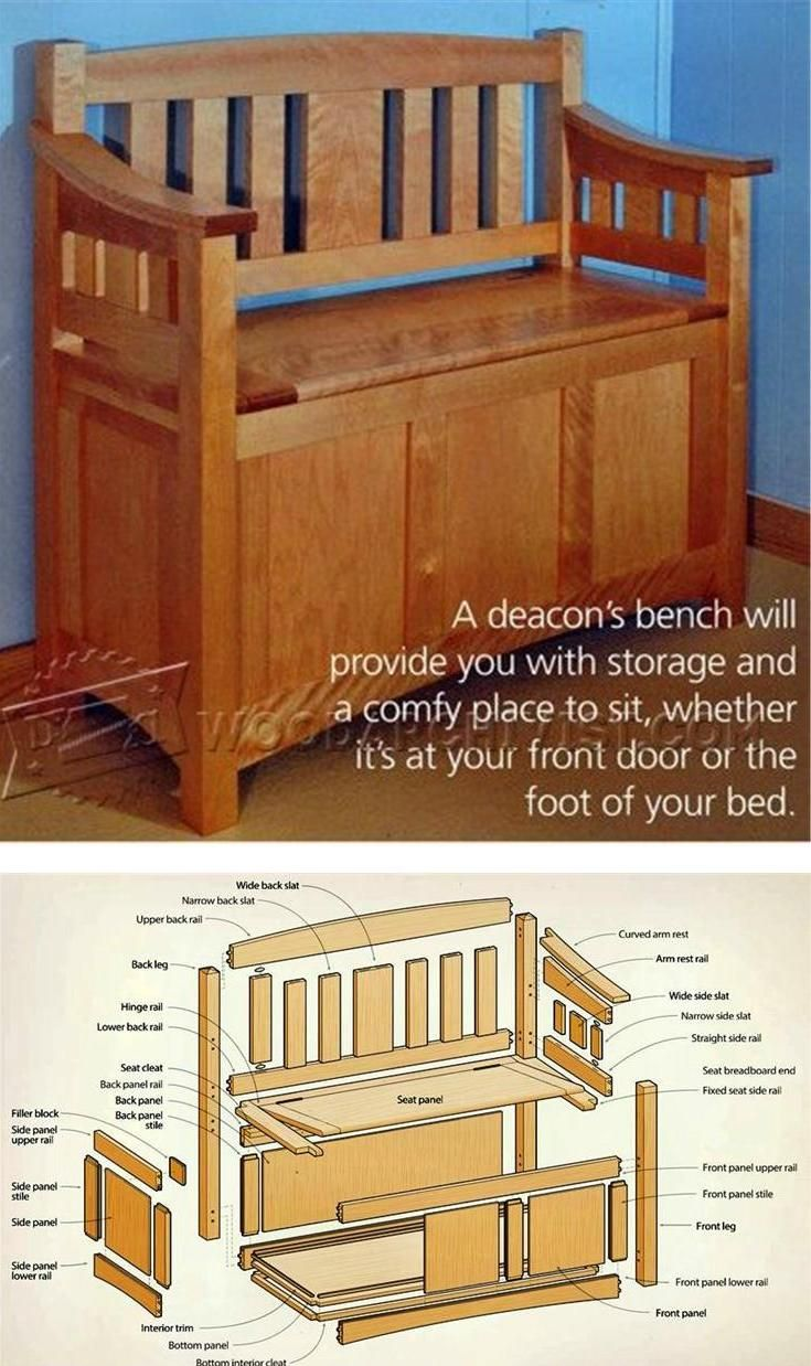 Deacons bench plans furniture plans and projects for Planos carpinteria pdf