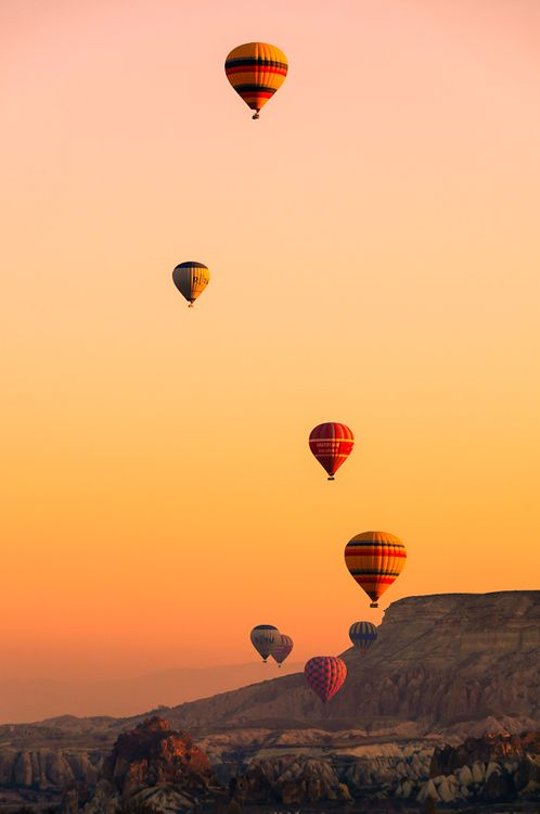 Fliegen im Heißluftballon