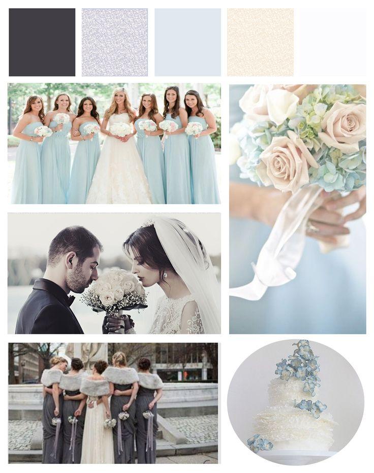 Pastel blue wedding - pasztell kék esküvő - GS Design