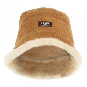 UGG® Australia Authorised Retailer UGG® City Bucket Tan Suede Hat